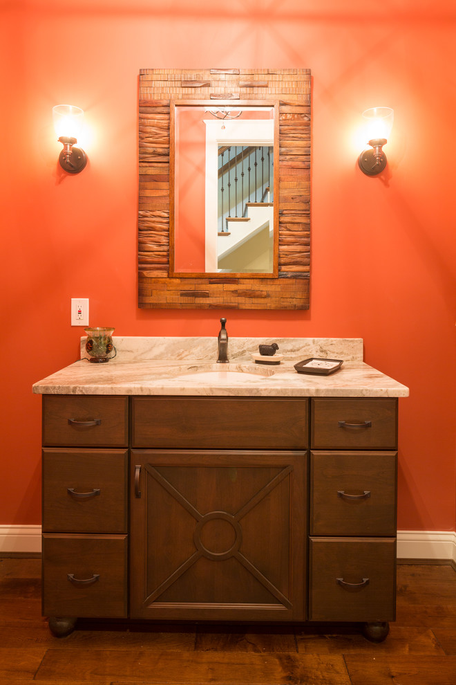 Full Overlay Alder Vintage Powder Room