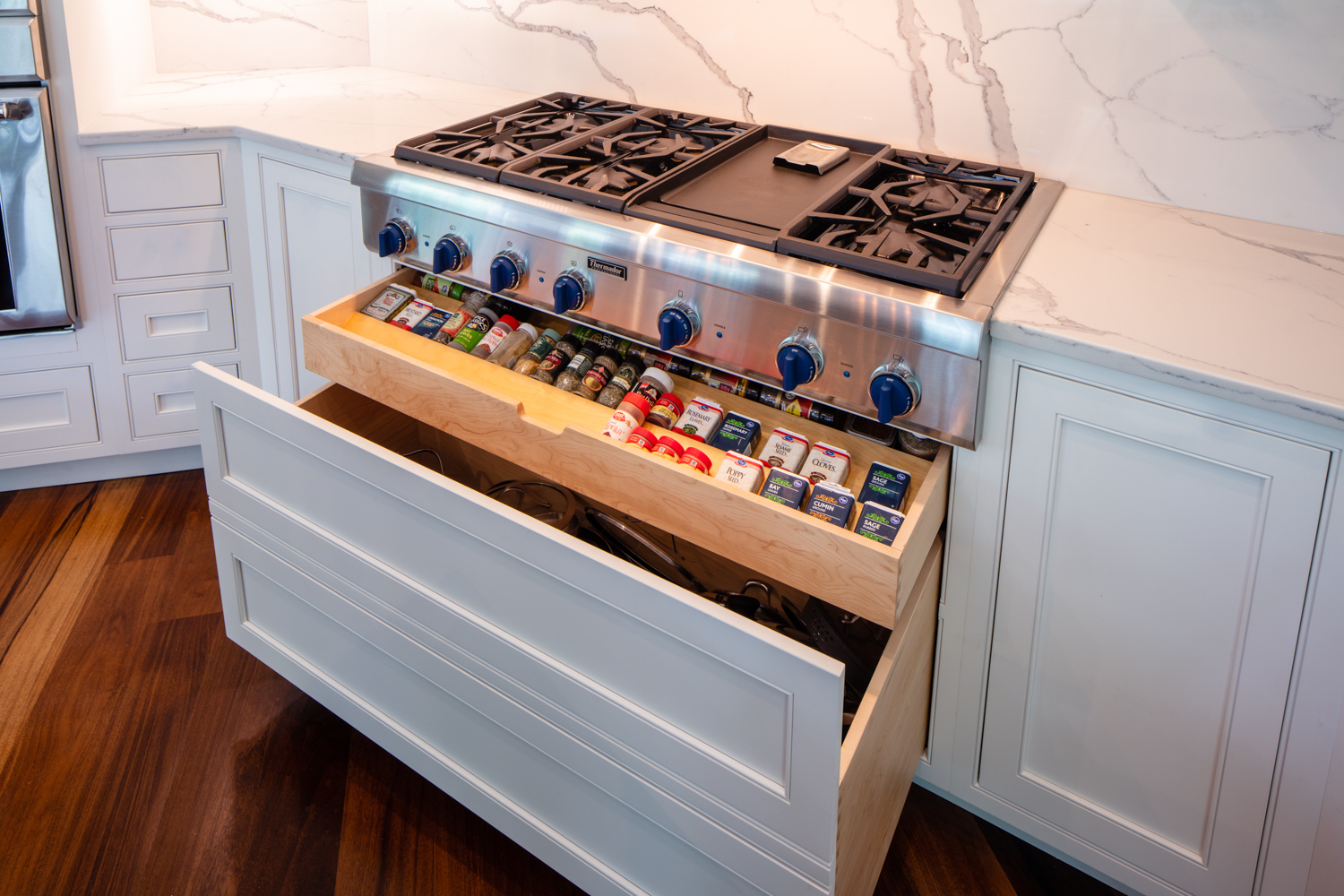 Spice Drawer Under Cooktop